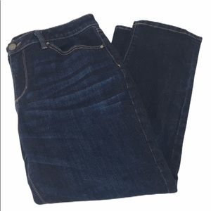 a.n.a Skinny Ankle Dark Blue Jeans, Size 14